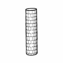 M. PVC TORRE REDONDA D40x255mm (1i)
