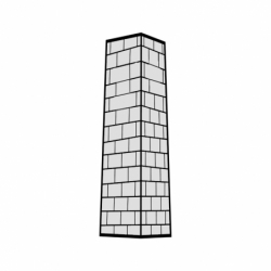 M. PVC TORRE CUADRADA 35x35x170mm (1i)