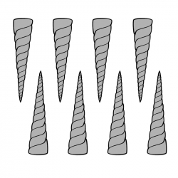 MOLDE PVC CUERNO UNICORNIO 85x20x40mm (12c)
