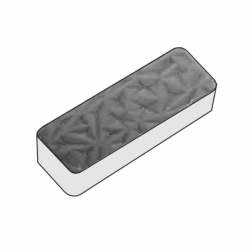 MOLDE PVC TURRÓN RECTANGULO 33x80x18mm