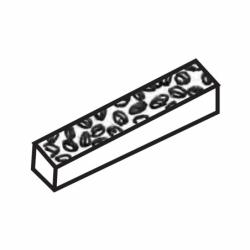 MOLDE PVC TURRÓN TU434 200x40x20mm (2ud)