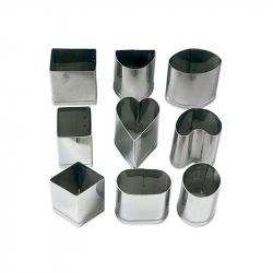 CORTAPASTAS (9) PARA PRALINERIA INOX  5cm